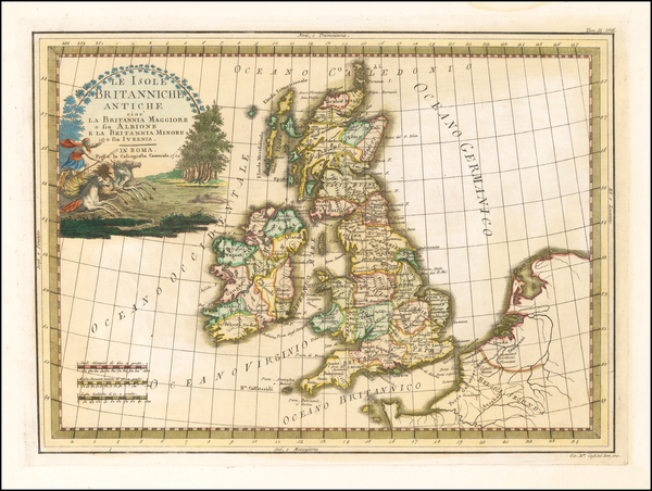 British Isles Map By Giovanni Maria Cassini
