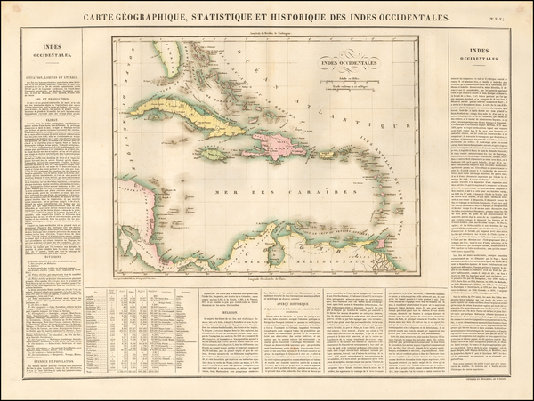 90-Caribbean Map By Jean Alexandre Buchon
