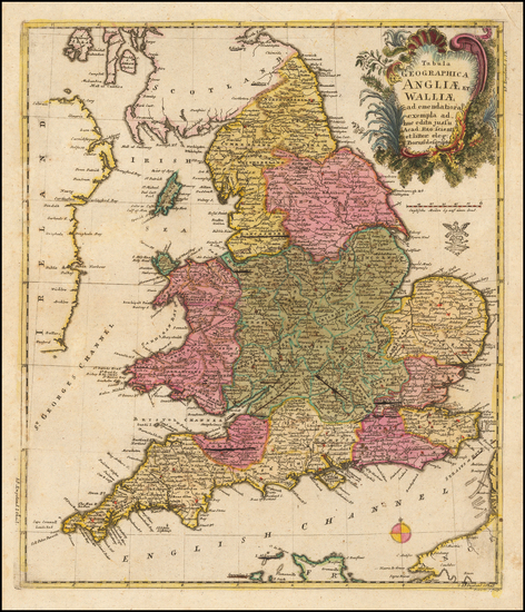 54-England Map By Leonard Von Euler