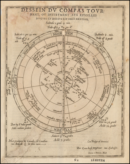 81-World, World, Curiosities and Celestial Maps Map By Lucas Janszoon Waghenaer