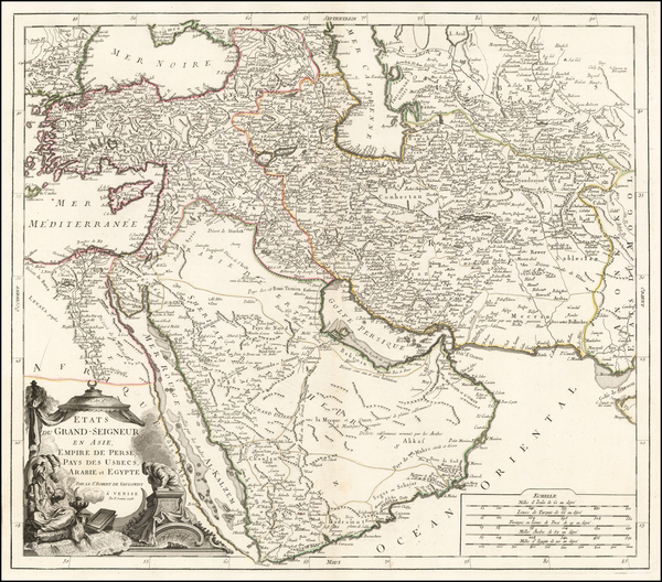 78-Middle East, Holy Land and Turkey & Asia Minor Map By Paolo Santini