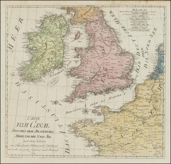34-British Isles Map By J. F.  Saltzenberg