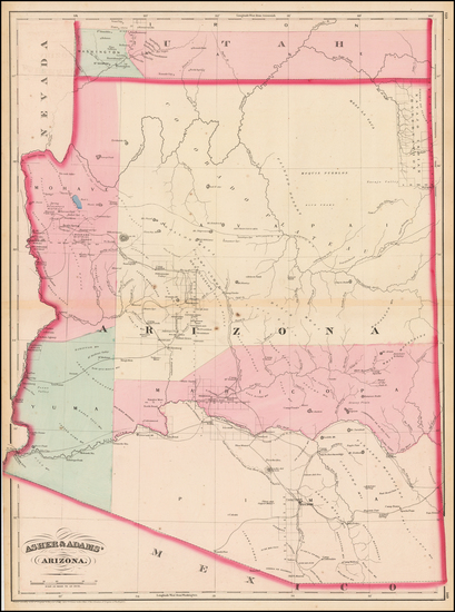 54-Southwest and Arizona Map By Asher  &  Adams