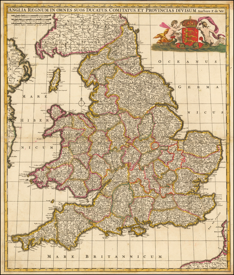 39-England Map By Frederick De Wit