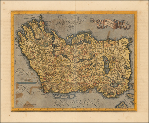 Ireland Map By  Gerard Mercator