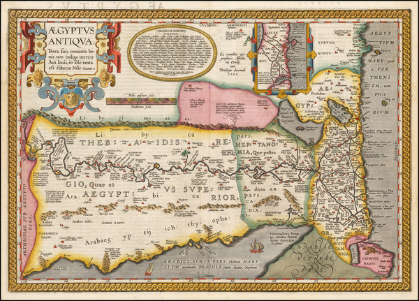 85-Egypt Map By Abraham Ortelius
