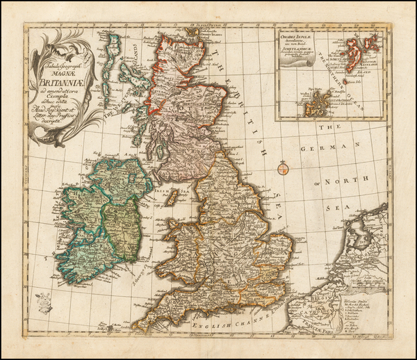 British Isles Map By Leonard Von Euler