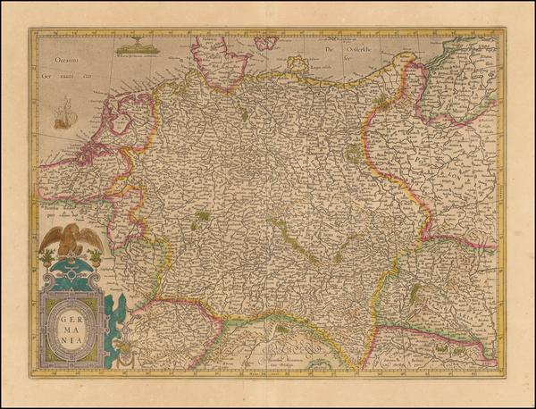 93-Germany Map By Jodocus Hondius  &   Gerard Mercator