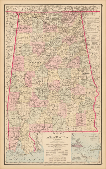 80-South and Alabama Map By O.W. Gray