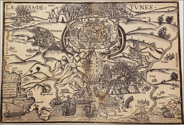 76-North Africa Map By Giovanni Andrea Vavassore