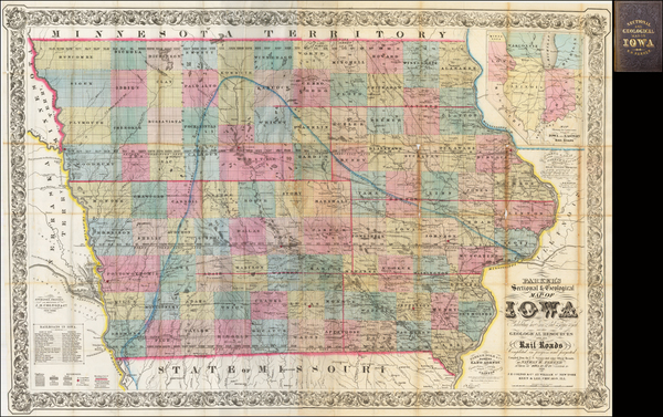 Plains and Iowa Map By Nathan Parker