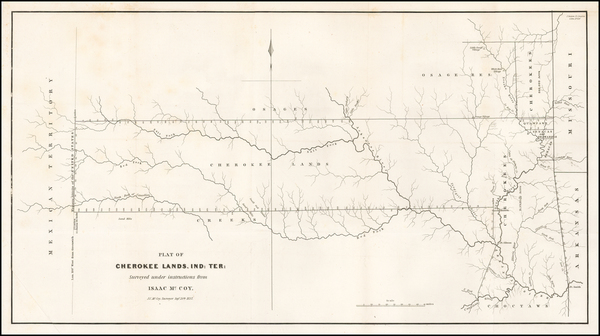 51-Plains and Oklahoma & Indian Territory Map By J.C. McCoy