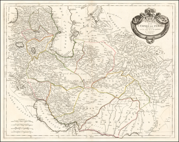 Central Asia & Caucasus and Middle East Map By Paolo Santini