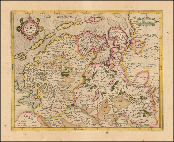 78-Germany Map By  Gerard Mercator