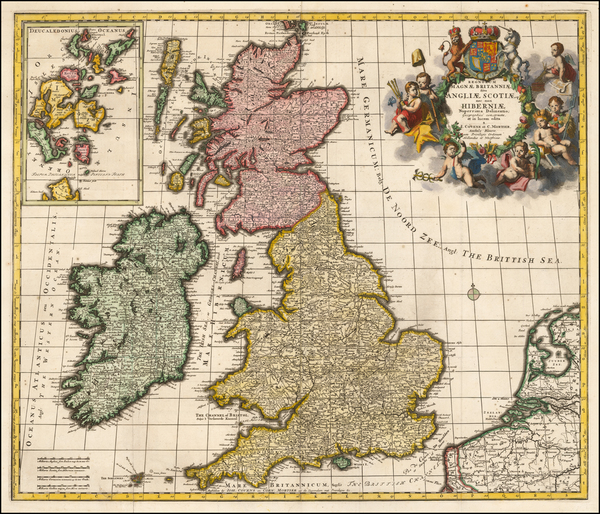 1-British Isles Map By Johannes Covens  &  Cornelis Mortier