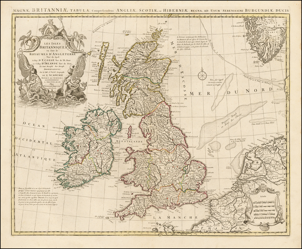 51-British Isles Map By Covens & Mortier