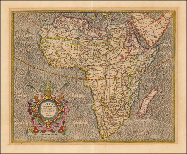 51-Africa and Africa Map By Gerard Mercator