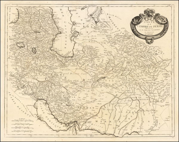22-Central Asia & Caucasus and Middle East Map By Paolo Santini / Giovanni Antonio Remondini