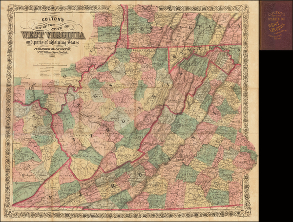 59-Mid-Atlantic and West Virginia Map By Joseph Hutchins Colton