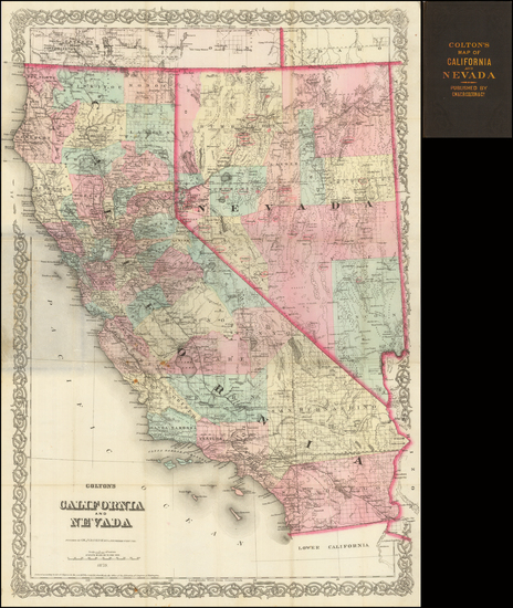 43-Southwest, Nevada and California Map By G.W.  & C.B. Colton