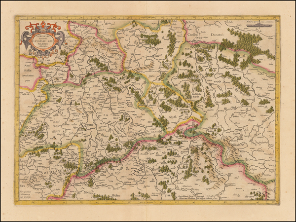 77-Germany, Poland and Czech Republic & Slovakia Map By  Gerard Mercator