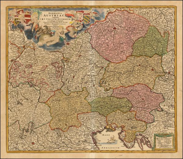 18-Austria and Czech Republic & Slovakia Map By Johann Baptist Homann