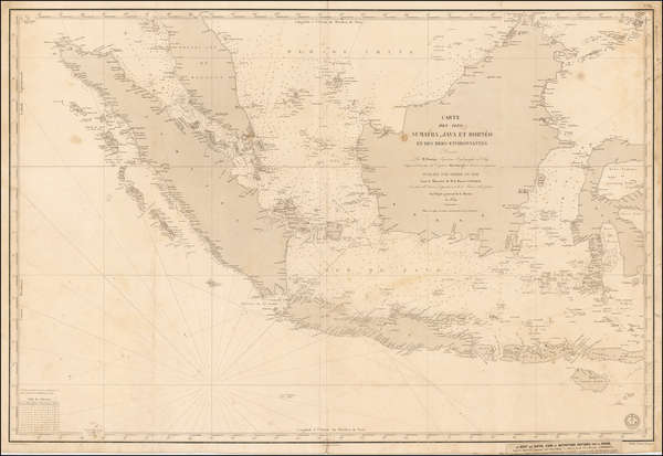 Southeast Asia and Philippines Map By Depot de la Marine