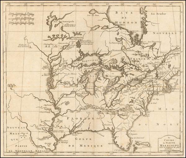 60-United States, South, Midwest and Plains Map By J.F. Bernard