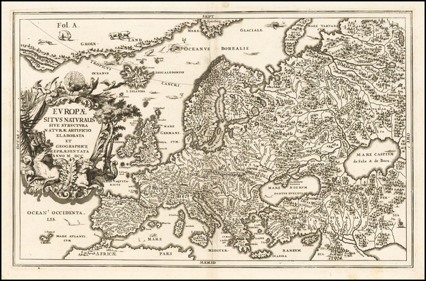 49-Europe and Iceland Map By Heinrich Scherer