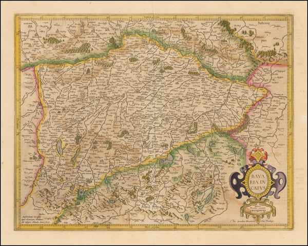 38-Germany Map By  Gerard Mercator