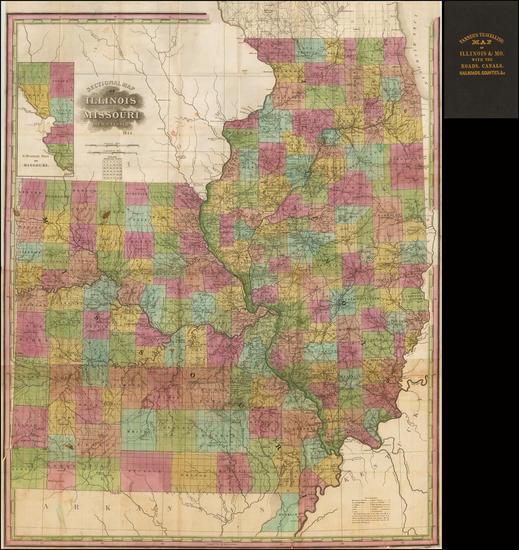 68-Midwest, Illinois, Plains and Missouri Map By Henry Schenk Tanner