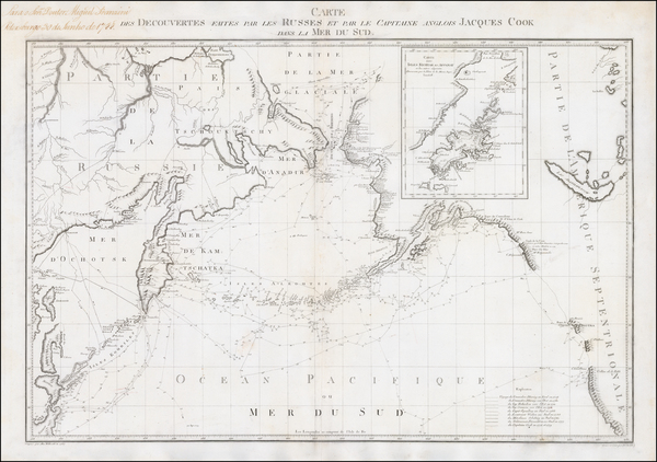 57-Polar Maps, Alaska, Pacific and Russia in Asia Map By Alexander Wilbrecht