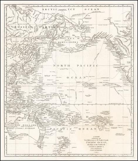 41-Alaska, Korea, Australia & Oceania, Pacific, Oceania and Russia in Asia Map By John Bew