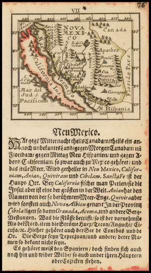 82-Baja California, California and California as an Island Map By Johann Ulrich Muller