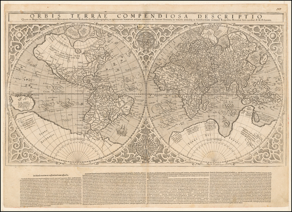 87-World and World Map By Rumold Mercator