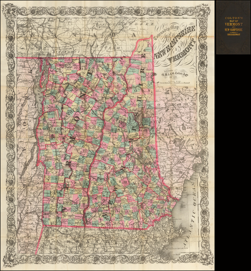 43-New England, New Hampshire and Vermont Map By G.W.  & C.B. Colton