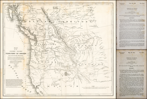 90-Rocky Mountains, Oregon and Washington Map By Washington Hood