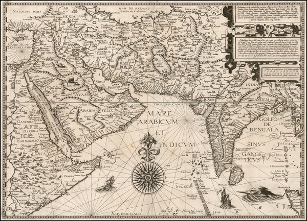 71-Indian Ocean, India, Central Asia & Caucasus, Middle East and East Africa Map By Jan Huygen