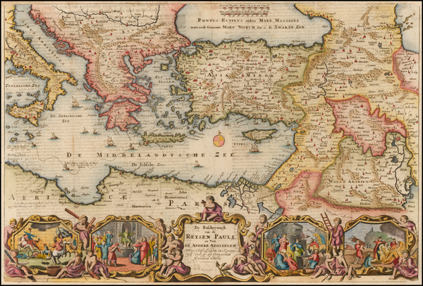 Greece, Turkey, Mediterranean, Balearic Islands, Central Asia & Caucasus, Holy Land and Turkey & Asia Minor Map By Daniel Stoopendahl