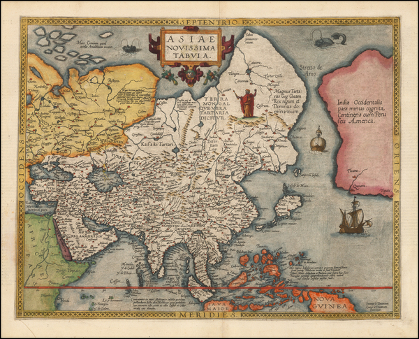 94-Asia, Asia and Philippines Map By Gerard de Jode