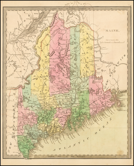 13-New England and Maine Map By Jeremiah Greenleaf