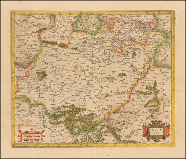 41-Germany Map By Henricus Hondius