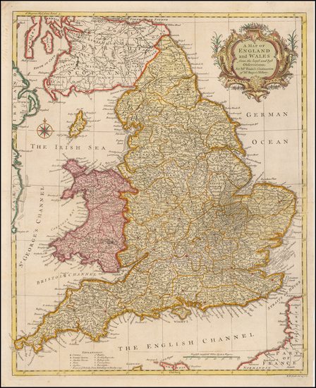 13-England Map By Paul de Rapin de Thoyras