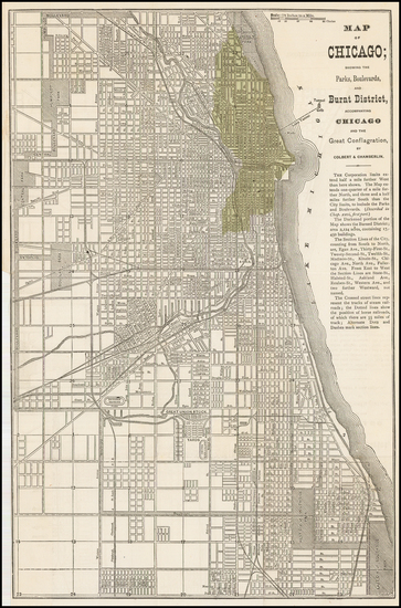 60-Midwest, Illinois and Chicago Map By Colbert & Chamberlin