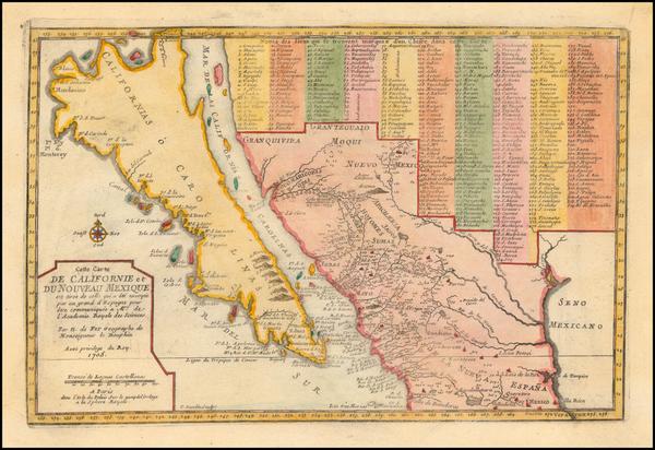 70-Baja California and California Map By Nicolas de Fer