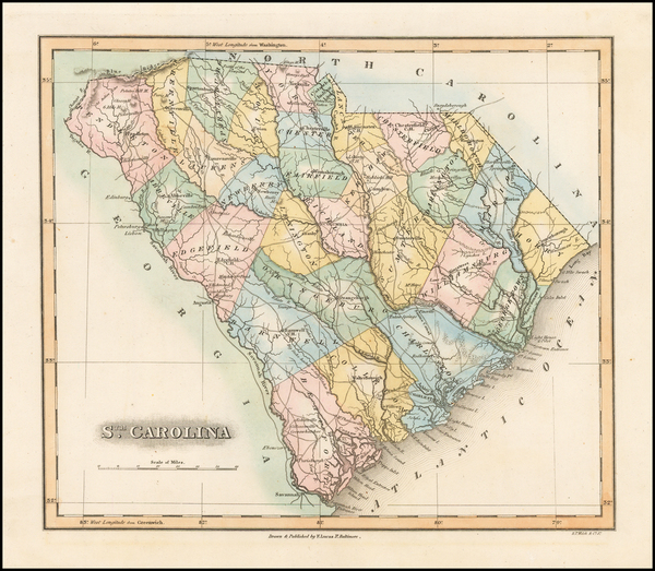 35-Southeast and South Carolina Map By Fielding Lucas Jr.