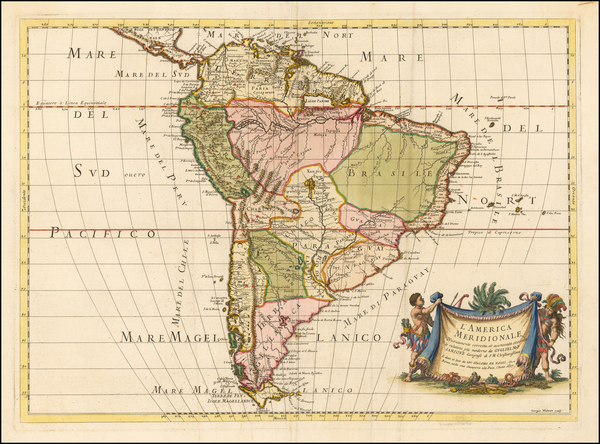 43-South America Map By Giacomo Giovanni Rossi
