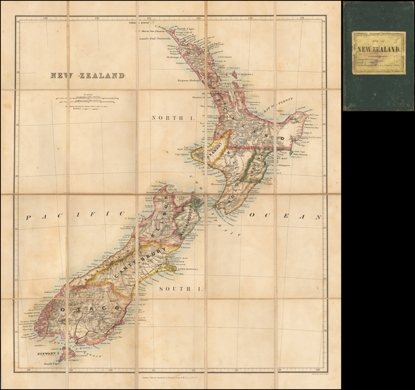 87-New Zealand Map By Edward Stanford