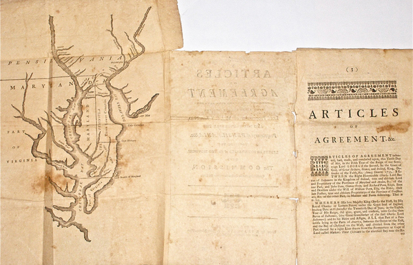 57-Mid-Atlantic, Pennsylvania, Maryland, Delaware and Virginia Map By Benjamin Franklin