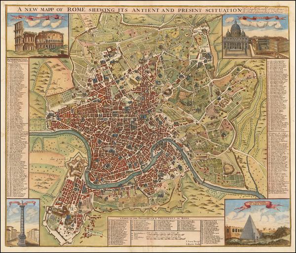 46-Rome Map By John Senex / John Harris